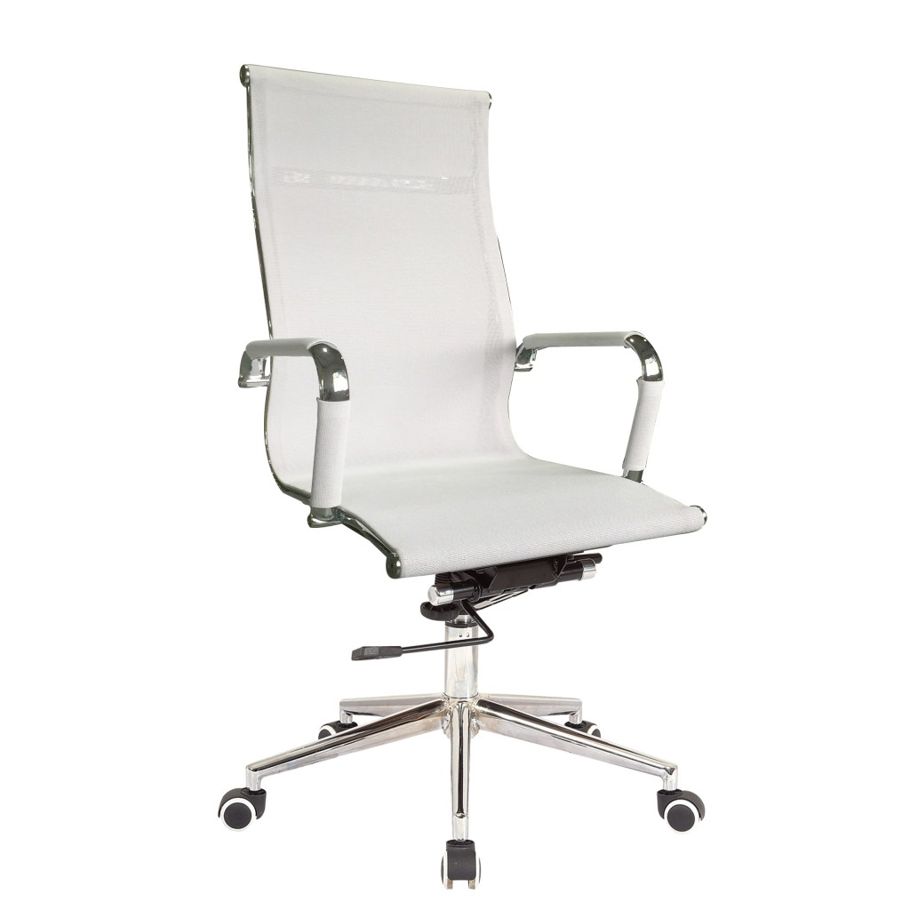 Classic Eames Reproduction High Back Tortion–WHITE Pleather