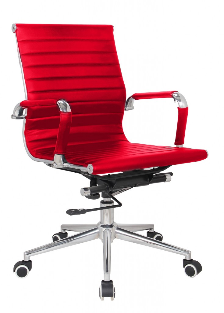 Classic Eames Reproduction Medium back –red Pleather