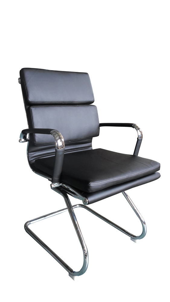 Classic Eames Reproduction visitor –black cushion pleather