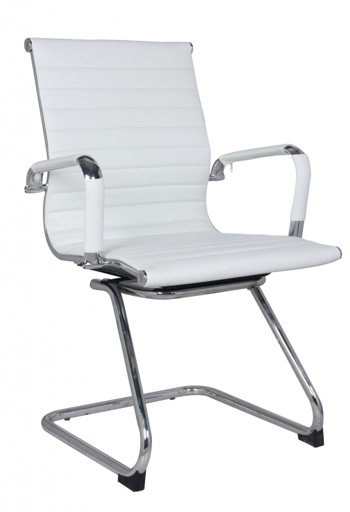 Classic Eames Reproduction Visitor–WHITE Pleather