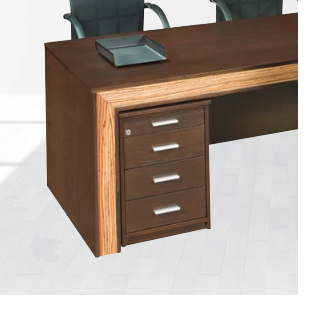 3 Drawer mobile pedestal with pen and pencil tray and central locking Image